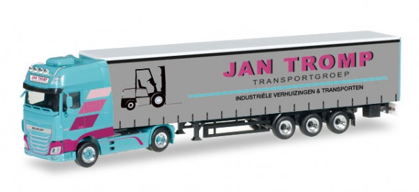 "HERPA 306607 DAF XF SSC Euro 6 Gardinenplanen-Sattelzug ""Jan Tromp"" (NL)"
