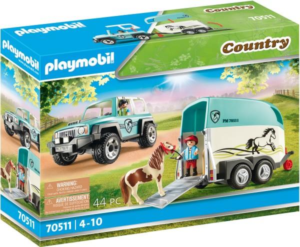 PLAYMOBIL® 70511 PKW mit Ponyanhänger