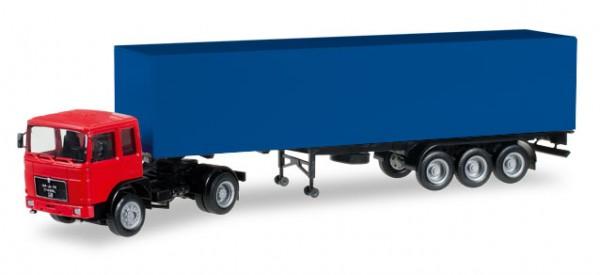 HERPA 012799 Herpa MiniKit: MAN F8 Koffer-Sattelzug