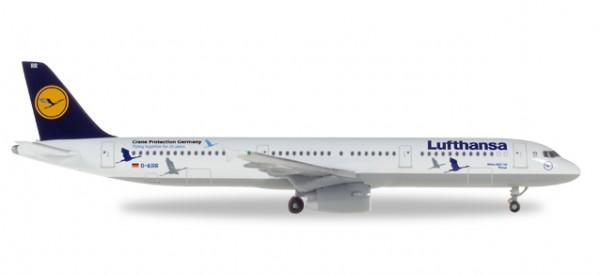 """HERPA 530491 Lufthansa Airbus A321 """"25 Jahre Kranichschutz"""" - D-AIRR """"Wismar"""""""