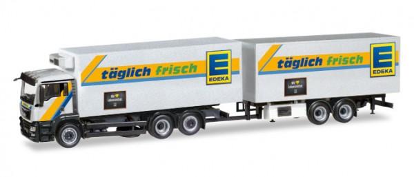 """HERPA 308557 MAN TGS M Kühlkoffer-Hängerzug """"EDEKA"""""""