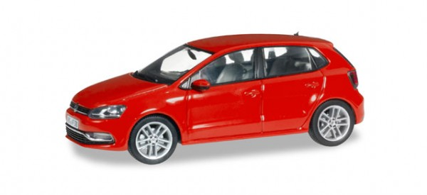 Herpa 070836 VW Polo 5-türig facelift, flash-rot metallic