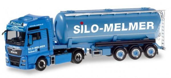 HERPA 310574 MAN TGX XXL Euro 6c Silo-Sattelzug Silo Melmer/ Kletterstadl (A)