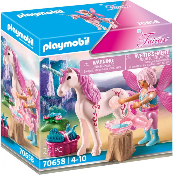 PLAYMOBIL® 70658 Einhorn mit Pflege-Fee