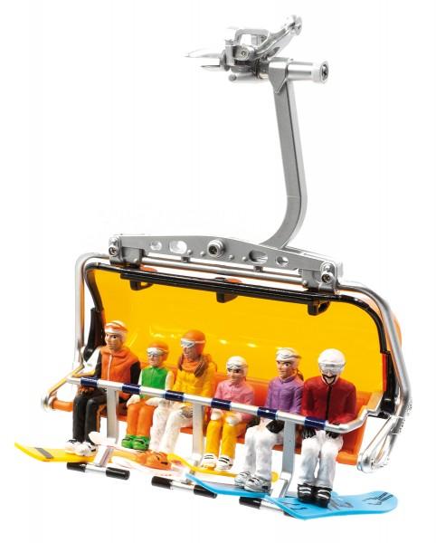 JC54500 6 Figuren sitzend mit HEAD Snowboard