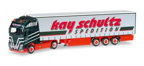 """HERPA 306980 Volvo FH Gl. XL Gardinenplanen-Sattelzug """"Kay Schultz"""""""