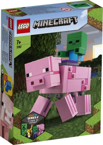 LEGO® Minecraft# 21157 BigFig Schwein mit Zombiebaby