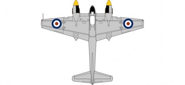 HERPA 8172HOR006 DH103 Sea Hornet TT197 728 Squadron Malta 1953