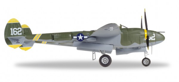 "HERPA 580229 U.S. Army Air Forces (USAAF) Lockheed P-38J Lightning - Capt Perry J. ""Pee Wee"" Dahl,"