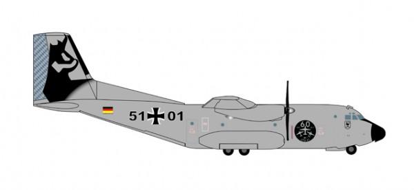 "HERPA 530682 Luftwaffe C-160 Transall - LTG 61 ""60th Anniversary"" - 5101"