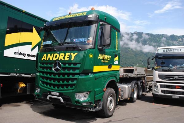 """HERPA 927697 Mercedes Benz Arocs 6x4 Semitieflade Sattelzug """"Andrey"""""""