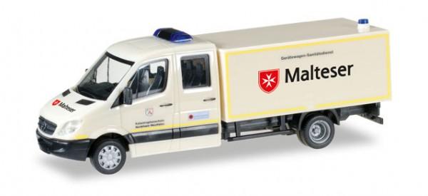 """HERPA 092951 Mercedes-Benz Sprinter Doppelkabine mit Koffer GW-San """"Malteser Hilfsdienst"""""""