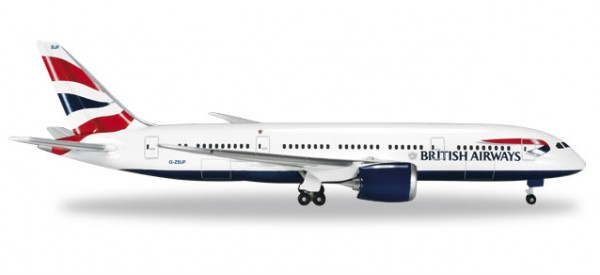 Herpa 524698-001 British Airways Boeing 787-8 Dreamliner