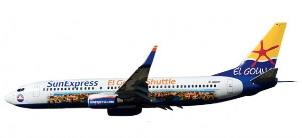 "HERPA 611053 SunExpress Boeing 737-800 ""El Gouna Shuttle"""