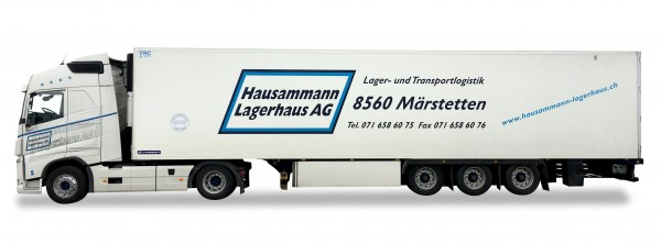 """HERPA 927925 Volvo FH GL. Kühlkoffer-Sattelzug """"Hausammann"""""""