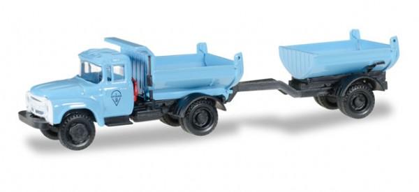 HERPA 745758 ZIL 130 Muldenkipper-Hängerzug, blau