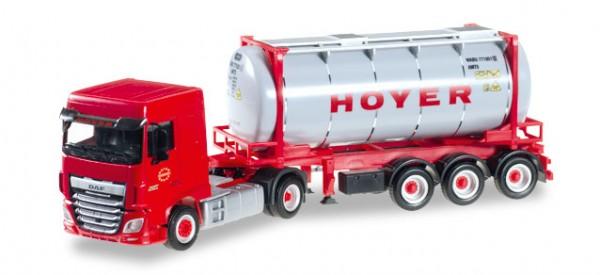 """HERPA 306072 DAF XF SC Euro 6 Chemietankcontainer-Sattelzug """"HOYER"""""""