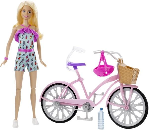 Mattel FTV96 Barbie Puppe & Fahrrad