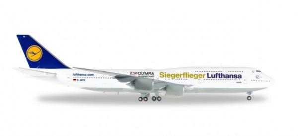 """HERPA 558402 Boeing 747-8 Intercontinental Lufthansa """"Siegerflieger Olympia Rio 2016"""""""