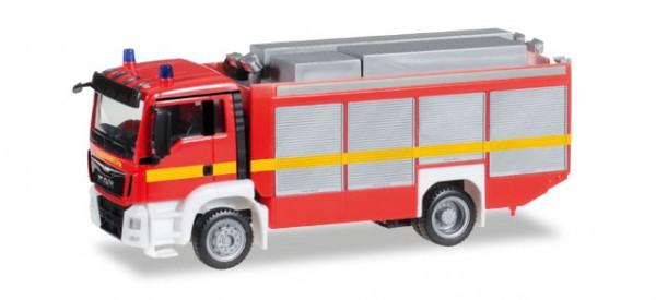 """HERPA 091077-002 MAN TGS M Euro 6 Rüstwagen RW2, leuchrot """"Feuerwehr"""""""