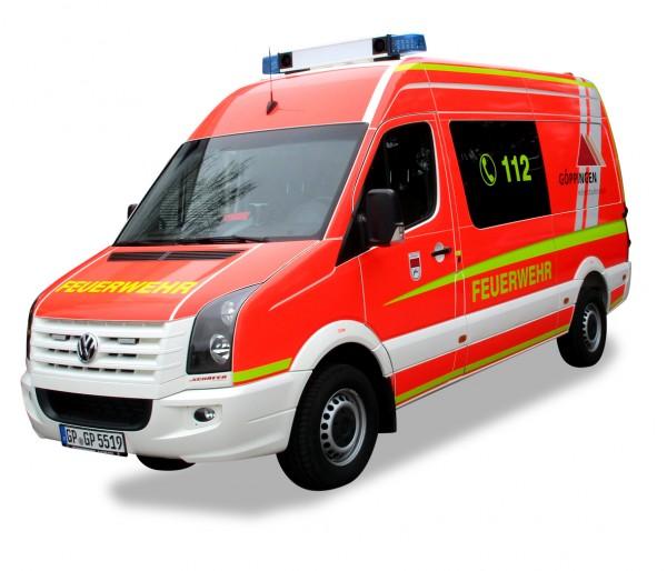 """HERPA 929288 VW Crafter MTW """"Feuerwehr Göppingen"""""""