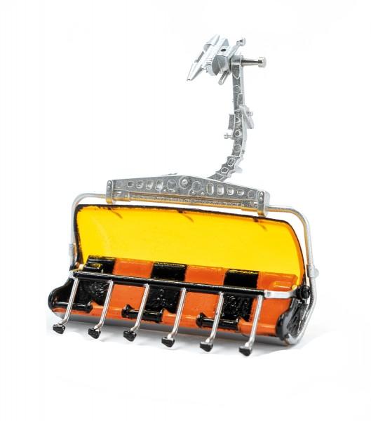 JC82150 6er Sessel Bubble orange/schwarz H0 1:87