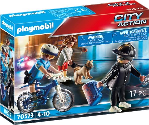 PLAYMOBIL® 70573 PLAYMOBIL® 70573 Polizei-Fahrrad: Verfolgung des Taschendiebs