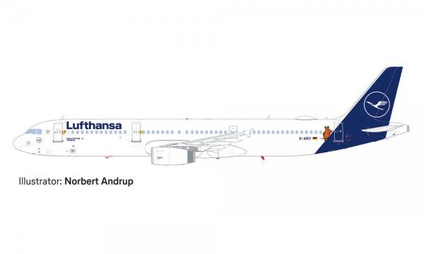 """HERPA 533621 LUFTHANSA AIRBUS A321 """"DIE MAUS"""""""