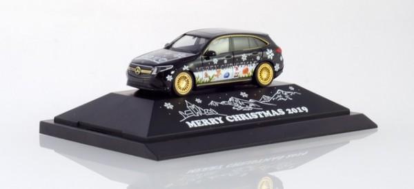 """HERPA 102155 Mercedes-Benz EQC """"Herpa Weihnachts-PKW 2019"""""""