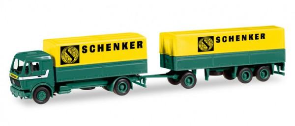 """HERPA 308687 Mercedes-Benz Planen-Hängerzug """"Schenker"""""""