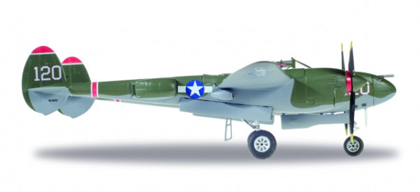 HERPA 580243 U.S. Army Air Forces (USAAF) Lockheed P-38L Lightning - Captain V.E. Jett, 431st Fight