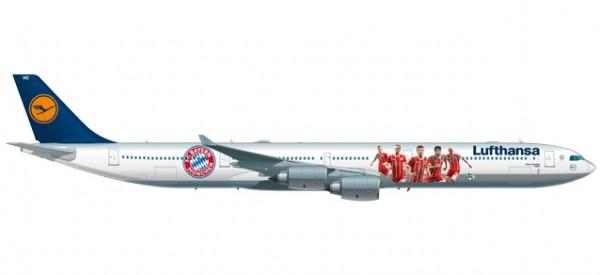 "HERPA 530897 Lufthansa Airbus A340-600 ""FC Bayern Audi Summer Tour China 2017"" - D-AIHZ"