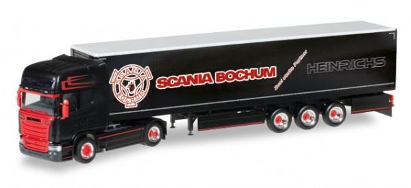 """HERPA 306669 Scania R TL Gardinenplanen-Sattelzug """"Heinrichs"""""""