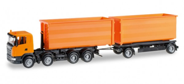HERPA 306041 Scania R Abrollmulden-Hängerzug