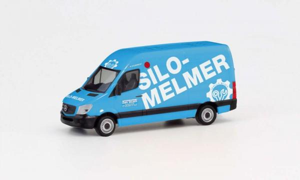 """HERPA 095419 MERCEDES-BENZ SPRINTER `13 KASTEN HD """"SILO MELMER"""""""