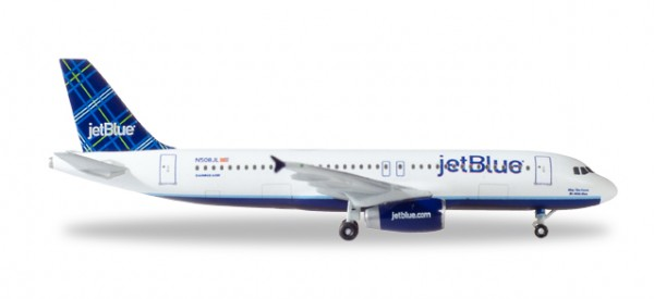"HERPA 530361 JetBlue Airways Airbus A320 - ""Tartan"" tail design - N508JL ""May the Force be with Blu"