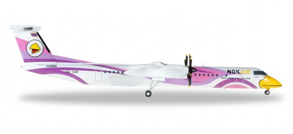 "HERPA 558136 Nok Air Bombardier Q400 ""Nok Kao Neaw"""