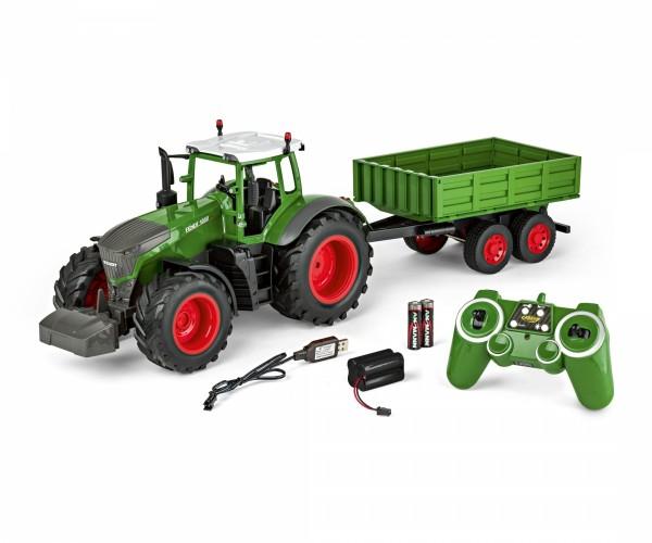 CARSON 500907314 1:16 RC Traktor mit Anhänger 100% RTR
