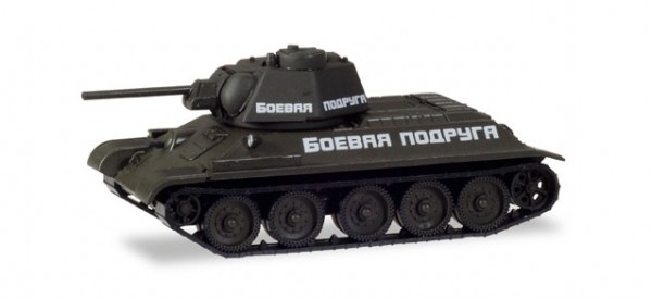 "HERPA 746199 Kampfpanzer T-34/76 Russische Armee ""Fighting Girlfriend"""