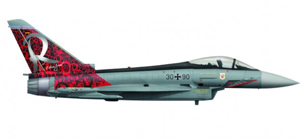 "HERPA 558198 Luftwaffe Eurofighter Typhoon - TaktLwG 71 ""Richthofen"""