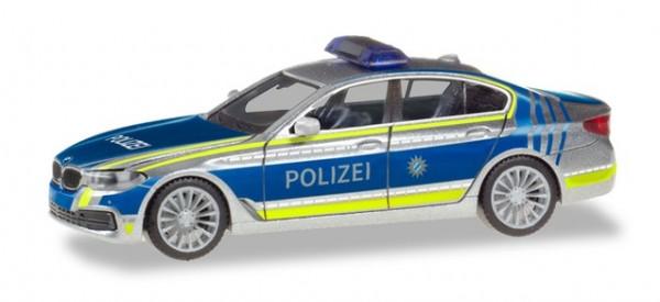 HERPA 094566 BMW 5er Limousine (G30) Lotsenfahrzeug Polizei München