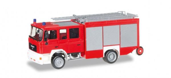 """HERPA 092913 MAN M 2000 Löschfahrzeug HLF 20 """"Feuerwehr, unbedruckt"""""""