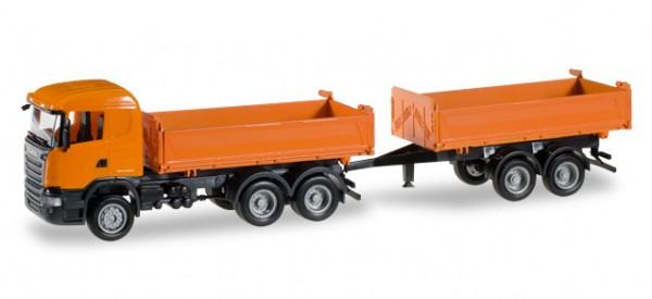 HERPA 306034 Scania R Baukipper-Tandem-Hängerzug