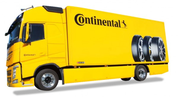 """HERPA 929721 Volvo FH Gl. Koffer-LKW """"Continental"""" (CH)"""