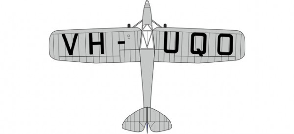 HERPA 8172PM007 DH80a Puss Moth VH-UQO My Hildegarde (Air Race)
