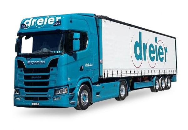 HERPA 932394 Scania CR20 HD Gardinenplanen-Sattelzug Dreier