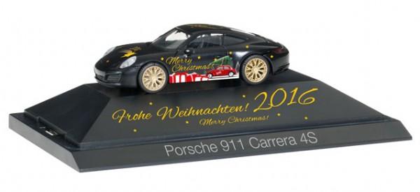 """HERPA 101998 Porsche 911 Carrera 4S """"Herpa Weihnachts-PKW 2016"""""""