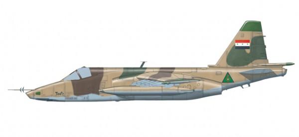 "HERPA 82MLCZ7206 Iraqi Air Force Sukhoi SU-25K ""Frogfoot"" − Jalieah Air Base, Iraq, 1991"