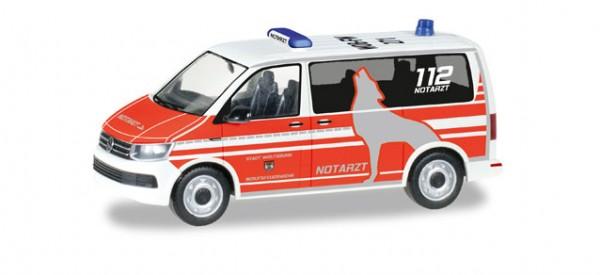 """HERPA 092876 VW T6 Bus """"Notarzt Feuerwehr Wolfsburg"""""""