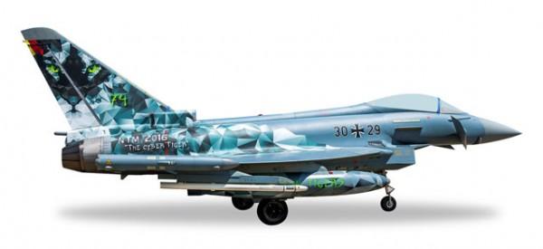 "HERPA 558327 Luftwaffe Eurofighter Typhoon - TaktLwG 74 ""Bavarian Tigers - Cyber Tiger"""